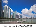 singapore waterfront financial... | Shutterstock . vector #746042797