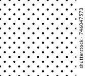 seamless monochrome polka dot... | Shutterstock .eps vector #746047573