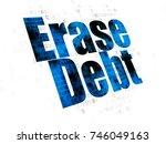 business concept  pixelated... | Shutterstock . vector #746049163
