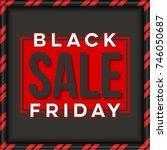 abstract vector black friday... | Shutterstock .eps vector #746050687