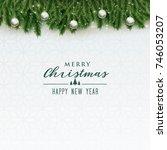 elegant merry christmas... | Shutterstock .eps vector #746053207