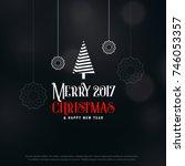 merry christmas dark greeting... | Shutterstock .eps vector #746053357
