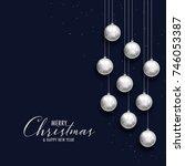 merry christmas dark greeting...   Shutterstock .eps vector #746053387