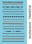 doodle dividers  borders | Shutterstock .eps vector #74606518