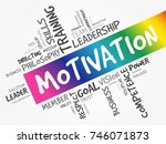 motivation word cloud collage ... | Shutterstock .eps vector #746071873