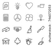 thin line icon set   search...