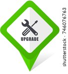 upgrade green square pointer... | Shutterstock .eps vector #746076763