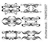 set of vector graphic elements ... | Shutterstock .eps vector #746092207