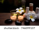 spa still life with white...   Shutterstock . vector #746099107