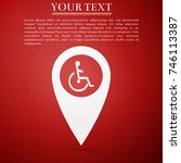 disabled handicap icon in map... | Shutterstock .eps vector #746113387