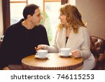 middle age couple in love... | Shutterstock . vector #746115253