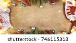 christmas and new year s... | Shutterstock . vector #746115313