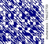 abstract texture diagonal navy... | Shutterstock .eps vector #746127733