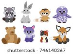 vector objects with pretty... | Shutterstock .eps vector #746140267