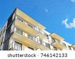 modern  luxury apartment... | Shutterstock . vector #746142133