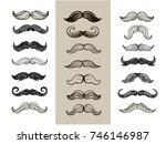 big set of hand drawn vector ... | Shutterstock .eps vector #746146987