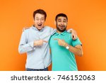 two best friends hugging ... | Shutterstock . vector #746152063