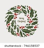 vector illustration christmas... | Shutterstock .eps vector #746158537