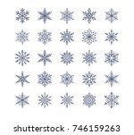 cute snowflakes collection... | Shutterstock .eps vector #746159263