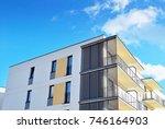 modern  luxury apartment...   Shutterstock . vector #746164903