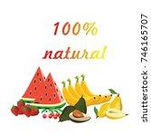 fruit natural vector | Shutterstock .eps vector #746165707