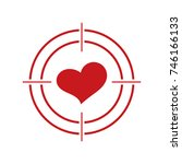 heart and target. love heart.  | Shutterstock .eps vector #746166133