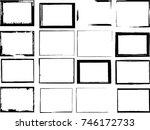 vector frames. rectangles for... | Shutterstock .eps vector #746172733