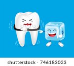 cartoon character of tooth and... | Shutterstock .eps vector #746183023