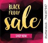 vector banner for the black... | Shutterstock .eps vector #746187547