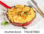 mac and cheese  american style...   Shutterstock . vector #746187883