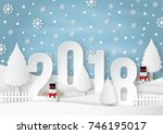 illustration of happy new year... | Shutterstock .eps vector #746195017