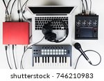 portable and compact music home ... | Shutterstock . vector #746210983