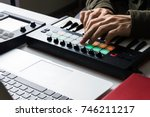 recording electronic music... | Shutterstock . vector #746211217