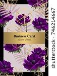 purple poppy flowers abstract... | Shutterstock .eps vector #746214667