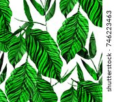 watercolor seamless pattern... | Shutterstock . vector #746223463