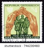 austria   circa 1983  a stamp... | Shutterstock . vector #746230483