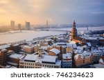 view of the roofs of the old... | Shutterstock . vector #746234623