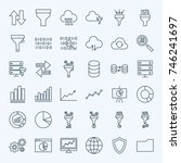 line filter funnel icons.... | Shutterstock .eps vector #746241697