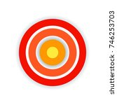 target of pain. wave halftone.... | Shutterstock .eps vector #746253703