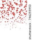 light red vertical greeting... | Shutterstock . vector #746255953
