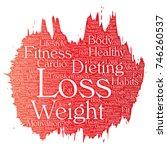 vector conceptual weight loss... | Shutterstock .eps vector #746260537