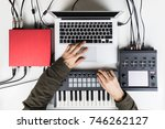 producing and mixing modern... | Shutterstock . vector #746262127