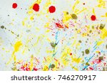 abstract colorful colored ink ... | Shutterstock . vector #746270917