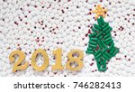 happy new year 2018 for medical ... | Shutterstock . vector #746282413