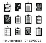 to do list icon set. simple set ... | Shutterstock .eps vector #746290723