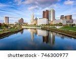columbus  ohio  usa skyline on... | Shutterstock . vector #746300977