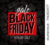 abstract vector black friday...   Shutterstock .eps vector #746302477