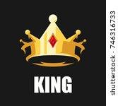 golden crown  vector | Shutterstock .eps vector #746316733