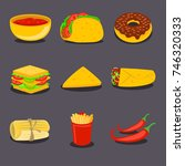 mexican traditional food set...   Shutterstock .eps vector #746320333