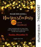 new years party invitation with ... | Shutterstock .eps vector #746323087